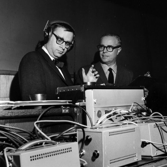 Recording engineer Rudy Van Gelder and Blue Note co-owner/producer Alfred Lion